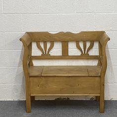 Small Pine Storage Bench (F9055A)