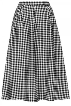 Topshop Gingham Calf Midi Skirt, £48
