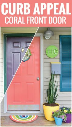Create this project with Americana Decor® Curb Appeal™ — Fall in love with this bright coral front door painted with Americana Decor Curb Appeal paint!