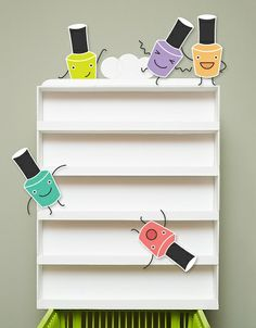 Nail Polish Rack Tutorial - Made from foam board!.