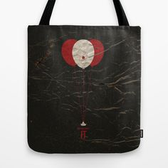 "Vintage Movie Poster Design. Stephen Kings ""IT"". Tote bag available to buy from society 6 $22"