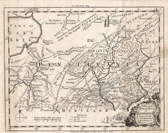 1756 Pennsylvania map, French and Indian War