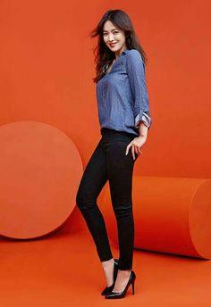 SHK for Esprit 2016 [cr. Korean Actresses, Korean Actors, Korean Beauty, Asian Beauty, Gentleman Songs, Asian Woman, Asian Girl, Song Hye Kyo Style, Songsong Couple
