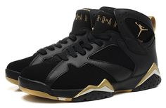 Nike Air Jordan 7 Retro Black Gold Men Shoes