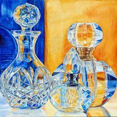 by Carol Creel - - Watercolor Watercolor Artists, Watercolor Techniques, Watercolour Paintings, Watercolors, Reflection Art, Art Aquarelle, Still Life Art, Ap Art, Art Studios