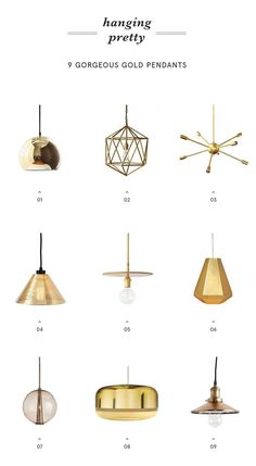 Looking to add some gold into your home? Check out these gold pendants! via @apartment_34