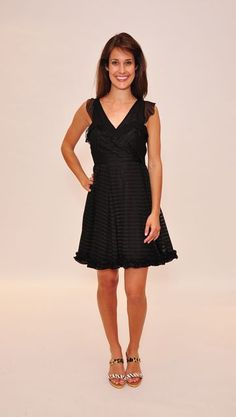 McGinn Cindy Stripe Dress in Black