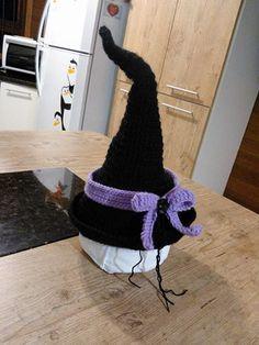 Chapéu de bruxa de crochê...