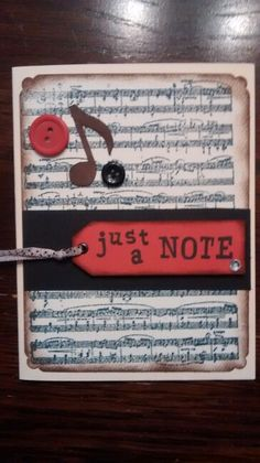 "Music ""note"" cards"