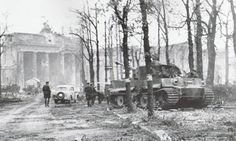 The last PzKpfw VI Tiger to fight in Berlin, Tiger No 323 of Panzer Division Müncheberg, sits abandoned on Unter den Linden Strasse about a hundred yards away from the Brandenburg Gate. Tiger 323 was abandoned by its crew on 2 May 1945 following the broadcast of the German surrender by General Helmuth Weidling, commander of the defense of Berlin. As stated above, Tiger 323 was the last of its kind to fight in Berlin, which in my opinion is pretty neat. http://www.vantiques.nl
