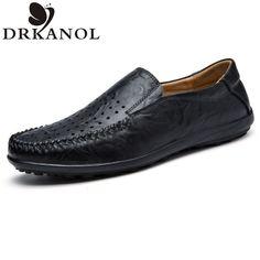 Men's Flats Shoes - Genuine Leather - Comfortable - Breathable - Business Dress Men Shoes - Luxury Shoe Flats Big Size