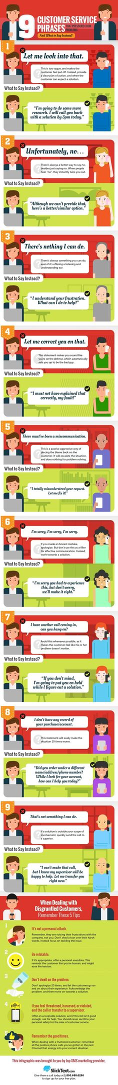 9 Deadly Customer Service Phrases to Avoid (& What to Say Instead) [Infographic]