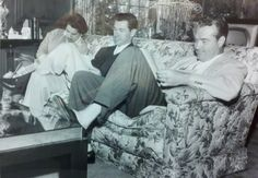 Johnny Carson and Red Skelton working on a t.v. script in the early 1950s.