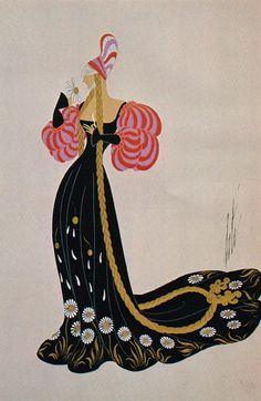 Erté Print Book Plate 1920's Art Deco Dress Design Original Vintage Art Print…