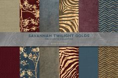 Savannah Twilight Golden Textures by Blixa 6 Studios on @creativemarket