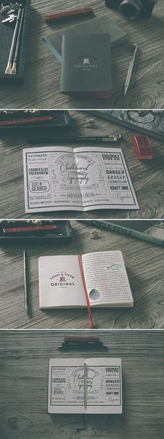 Notebook free mockup.