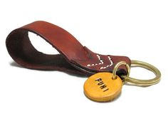 Key Chain - Personalized leather key chain - Key fob - Name tag key chain by PTagsShop on Etsy. Key Chain, Key Fob, Leather Key Chain.