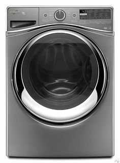 "Whirlpool WFW97HEDC 27"" Front-Load Washer with 4.5 cu. ft. Capacity, 12 Wash Cycles, 14 Adaptive Wash Actions, Load and Go Detergent System, Wash and Dry Cycle, and Steam Clean Option: Chrome Shadow"