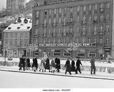 hotel, Czechoslovakia 1950 - Stock Image