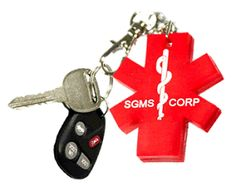 Key2Life USB Medi-Chip Star of Life Key Chain