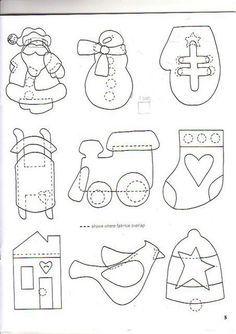 Album Archive - art to heart here comes santa Snowman Christmas Ornaments, Felt Ornaments, Christmas Themes, Christmas Quilt Patterns, Christmas Templates, Felt Crafts, Christmas Crafts, Homemade Ornaments, Rock Painting Designs