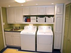 Converted Garage Space into Laundry Room. Exactly what I'd like to at my house since I only have a laundry closet.