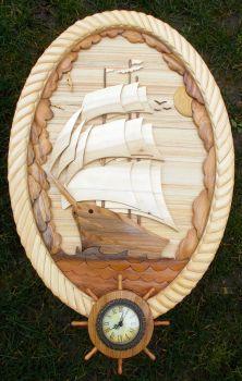ship by carkralj on DeviantArt Intarsia Wood Patterns, Wood Carving Patterns, Wood Carving Art, Wood Art, Intarsia Woodworking, Woodworking Patterns, Woodworking Furniture, Woodworking Projects, Glow Table
