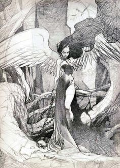 sketches and drawings Dark Fantasy Art, Art Drawings Sketches, Art Sketchbook, Ink Art, Aesthetic Art, Cute Art, Art Inspo, Amazing Art, Art Reference