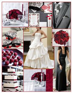 Flowers, Reception, Cake, White, Dress, Red, Bridesmaids, Black, Inspiration, Board, Grey, Gray, Jim hjelm occasions