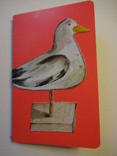 Petit carnet Aquarelle sur papier torchon sur http://marie-pia.alittlemarket.com