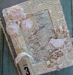 this is so pretty.  I am thinking that the center is using an embossing folder.