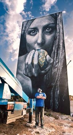 Artist Meataxe new awesome large scale Street Art mural in Malta