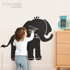 Spaceship Chalkboard Kids Wall Decal Kids Wall Decals - Wall decals you can write on