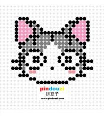 Image result for perler bead cat pattern