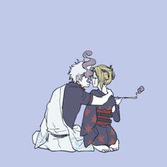 Gintoki x Tsukuyo Anime Cupples, Anime Art, Samurai, Naruto Games, Comedy Anime, Okikagu, Funny Couples, Couple Art, Retro Art