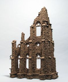 Abbey Ruins - Buildings - Gallery - John Brickels, Architectural Sculpture and Claymobiles, Essex Jct, Vermont