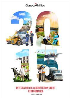 ConocoPhilips 2015 calendar on Behance Graphic Design Magazine, Food Graphic Design, Graphic Design Brochure, Creative Poster Design, Ads Creative, Design Poster, Creative Posters, Creative Advertising, Magazine Design