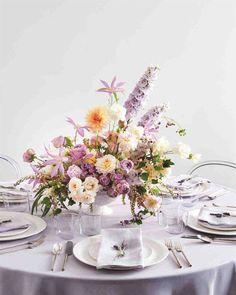 Hochzeitsdekore flieder Purple and Orange Floral Centerpiece Wedding Table Centerpieces, Floral Centerpieces, Ceremony Decorations, Centerpiece Ideas, Martha Stewart Weddings, Fall Wedding Colors, Wedding Flowers, 2 Baby, Wedding Motifs