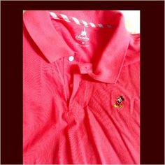 Disney Other - Sz.M-XL Coral BNWT Mickey Mouse Polo