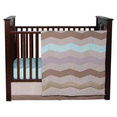 Cocoa Mint 3pc Crib Bedding Set- Gender Neutral