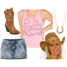 Suggested outfit for a Western Bachelorette party!