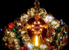 Santos Hand Beaded Rhinestone Crown For Saint by JewelsRosesNRust