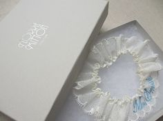 Love Letter personalised name embroidered tulle by florriemitton
