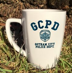 Funny Gotham City Police Department Coffee Mug. Printed on both sides for maximum Show Off! Microwave and Dishwasher Safe. Batman And Batgirl, Gotham Batman, Im Batman, Batman Gifts, Gotham Tv, Detective Comics, Geek Out, Dc Heroes, Dc Universe