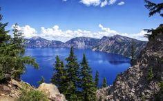 Scarica sfondi crater lake, piste, montagne, lago, rocce, usa