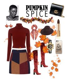 """Pumpkin"" by msheah-1 on Polyvore featuring Improvements, Casetify, Dolce&Gabbana, LaMarque, A.L.C., E L L E R Y, Gucci and Versace"