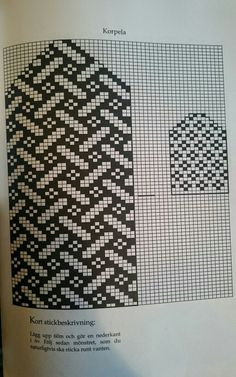 two color stitchpattern for mitts