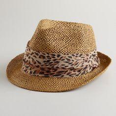 One of my favorite discoveries at WorldMarket.com: Animal Ribbon Fedora Hat