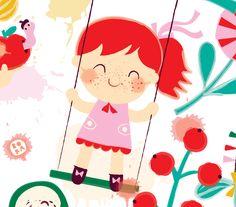 Dreaming of summer - girl on swing