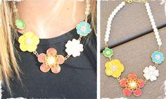 $9.50 Enamel Flower Necklace at VeryJane.com